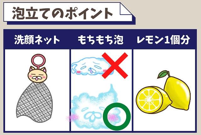 洗顔料を泡立てるときの3つのポイント