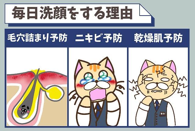 洗顔を毎日したほうがいい3つの理由