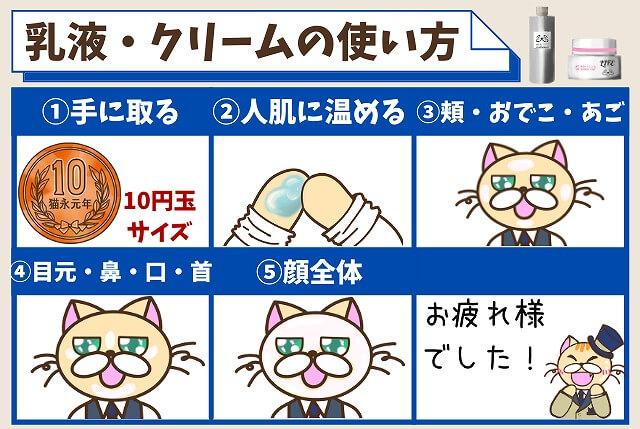 【ステップ④】乳液・クリームをつける