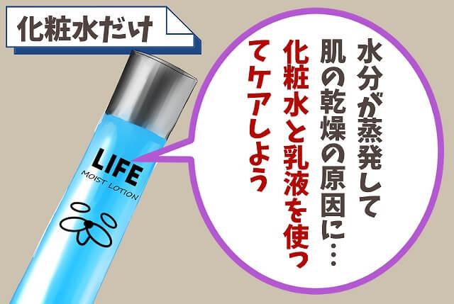 【NG⑦】化粧水だけしか使わない