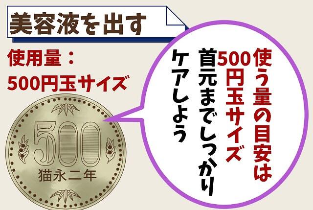 【ステップ②】500円玉くらいの量を出す