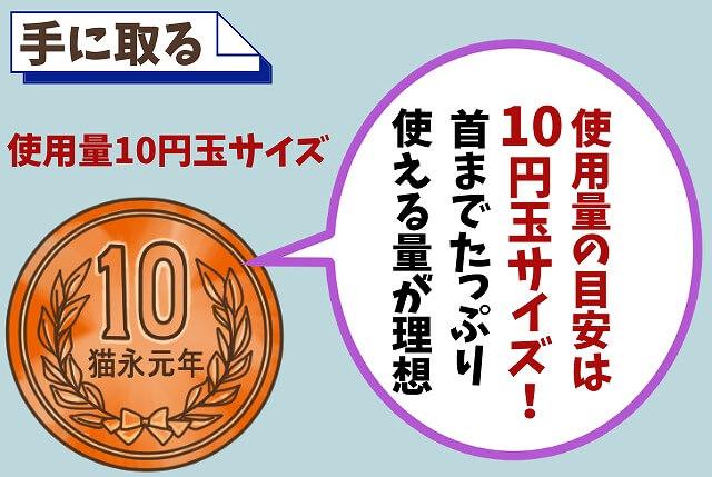 【ステップ①】10円玉の量を手に出す