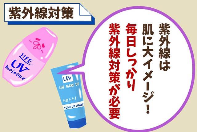 【ポイント③】紫外線対策をする