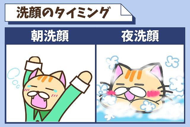 男が洗顔をするおすすめのタイミング 【朝は起きてすぐ・夜は入浴中】