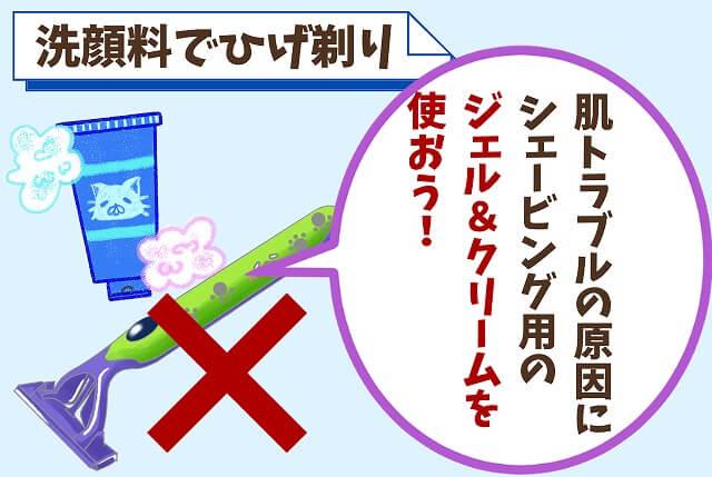 【NG①】洗顔料でひげを剃る