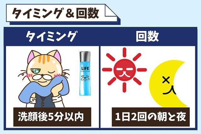 化粧水を付けるタイミングと回数【洗顔後&1日2回】