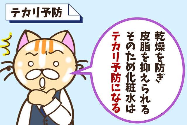 【メリット①】テカリやベタつきを予防できる