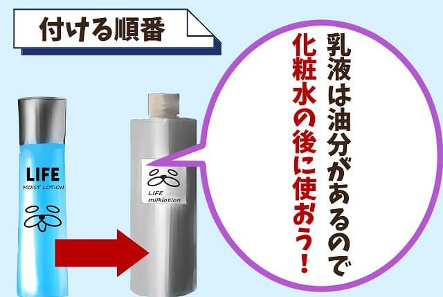 【付ける順番】化粧水(または美容液)の後に付ける