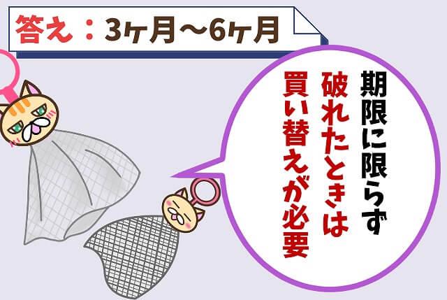 【質問②】洗顔ネットを買い換えるタイミングは?