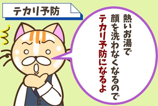 【メリット③】顔のテカリを防げる